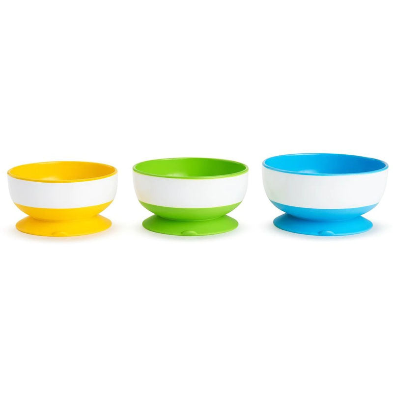 Munchkin Stay Put Suction Bowls 3 Pack