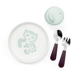 Stokke Munch Essentials Dish Set in Soft Mint