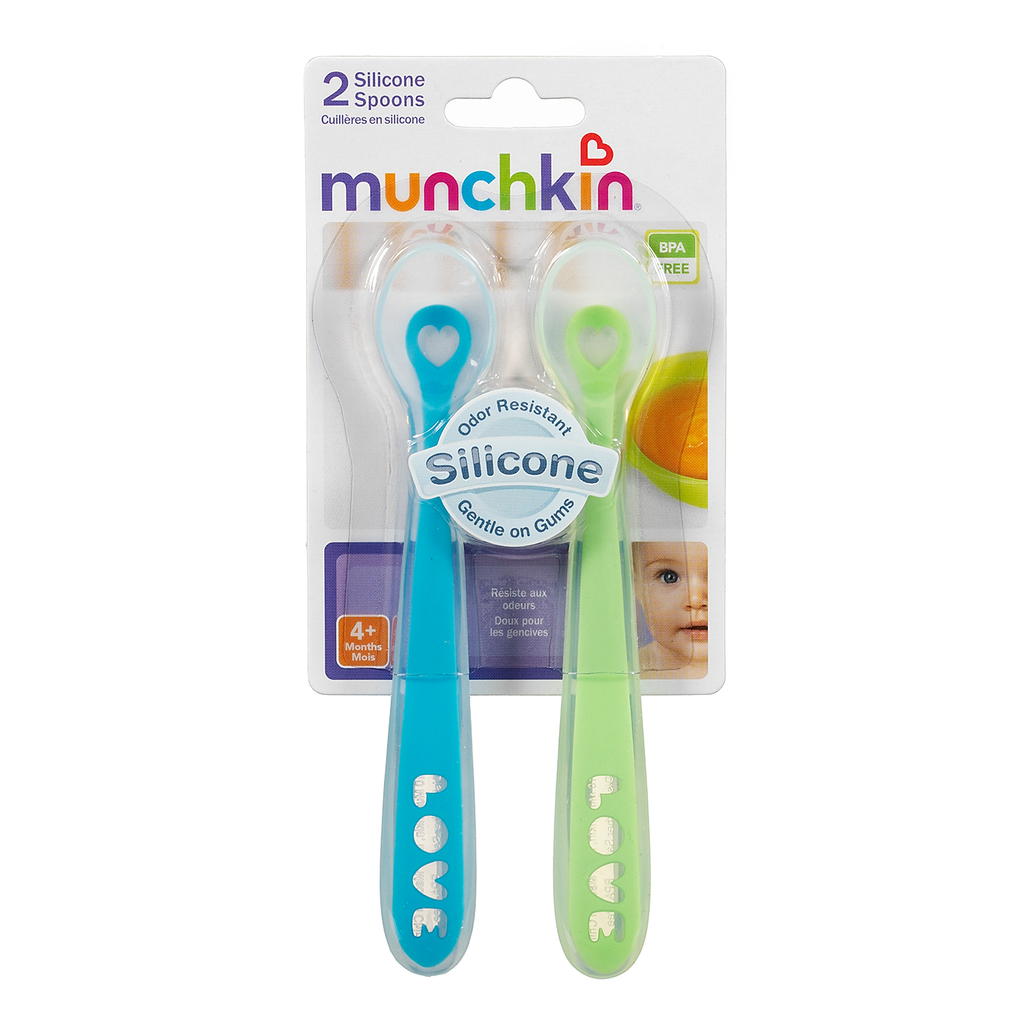 Munchkin Silicone Spoons - 2 Pack
