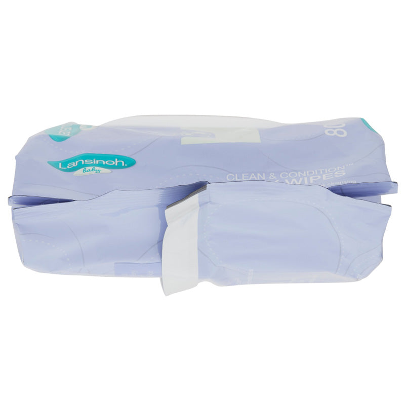Lansinoh Clean And Condition Baby Wipes 80 Ct
