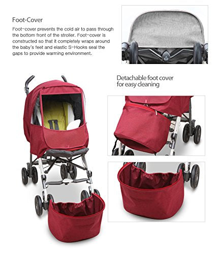 Manito Melange Alpha Stroller Weather Shield