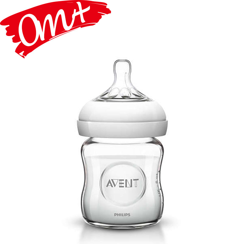 Philips Avent Natural 4 oz Glass Bottle