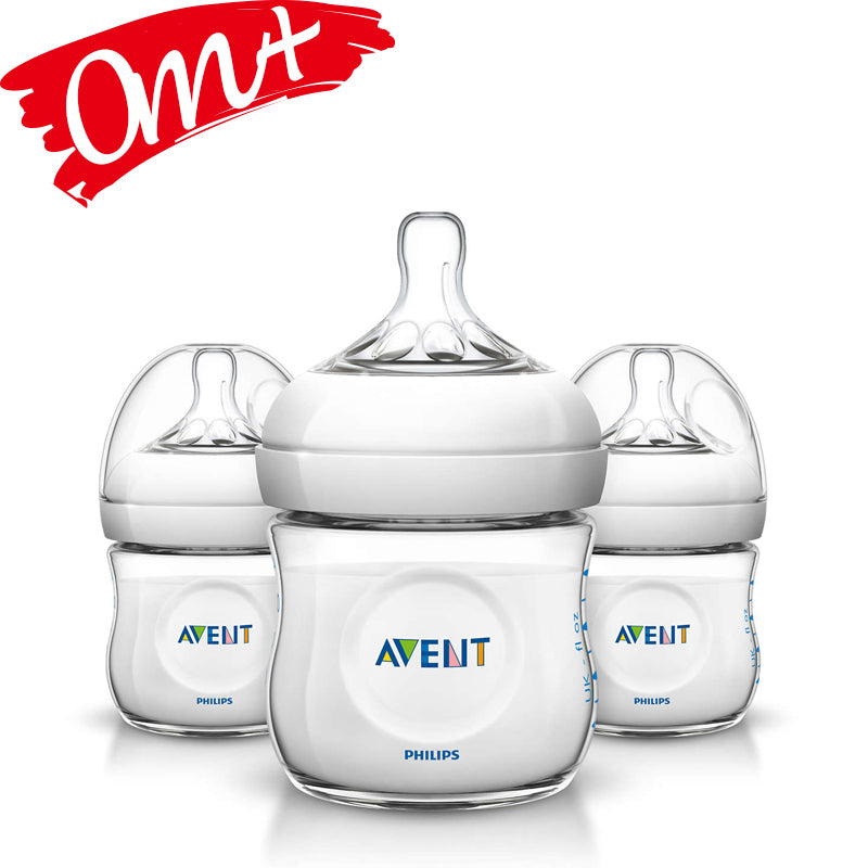 Philips Avent Natural 4 oz Bottle 3 Pack
