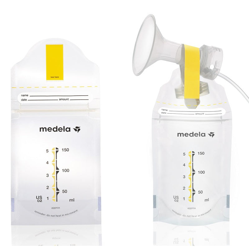 Medela Pump & Save Breastmilk Bags With Adapter
