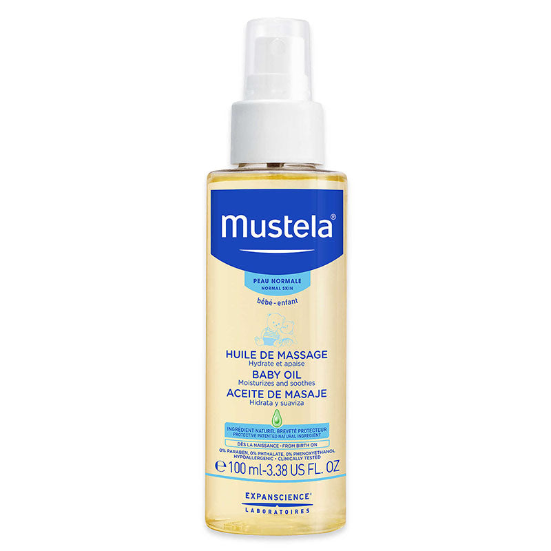Mustela Baby Oil for Normal Skin 3.38 oz