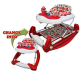Big Oshi 2 In 1 Walker Rocker Red
