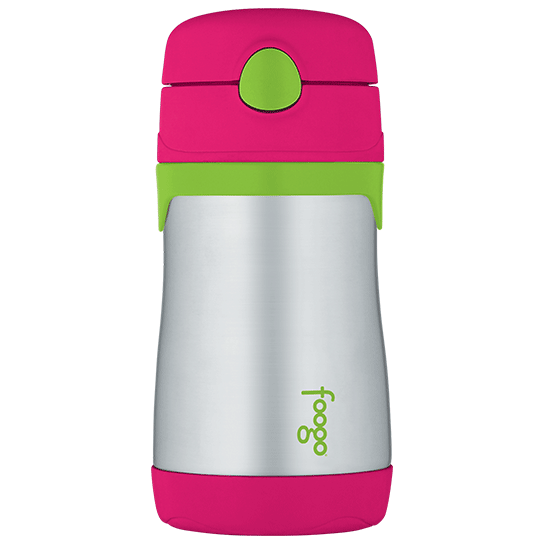Thermos Watermelon and Green Foogo Vacuum Insulated Straw Bottle 10 oz (Watermelon)