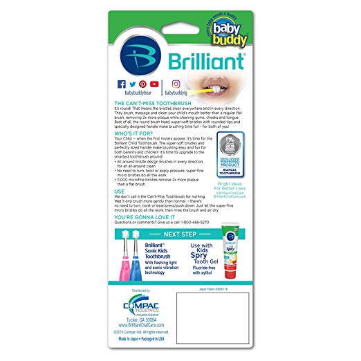 Baby Buddy Brilliant Baby Toothbrush 4 - 24 Months