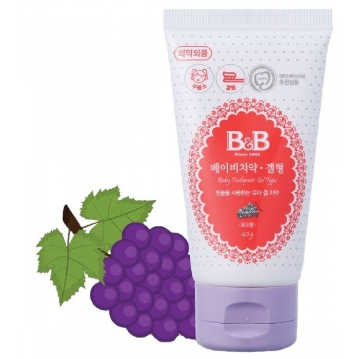 B&B Baby Toothpaste Gel Type 40G