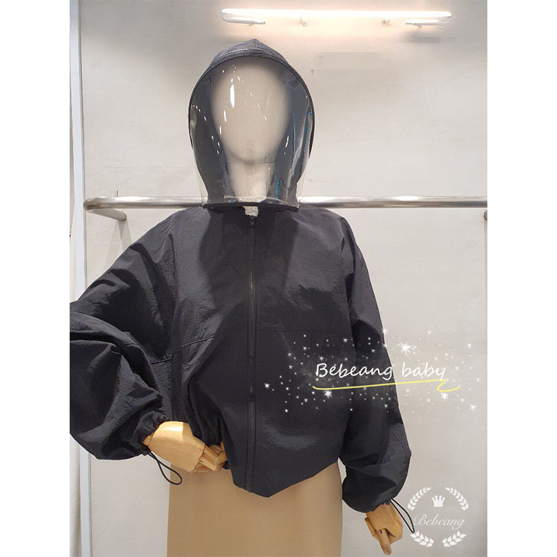 Hooded Jacket with Detachable Face Shield