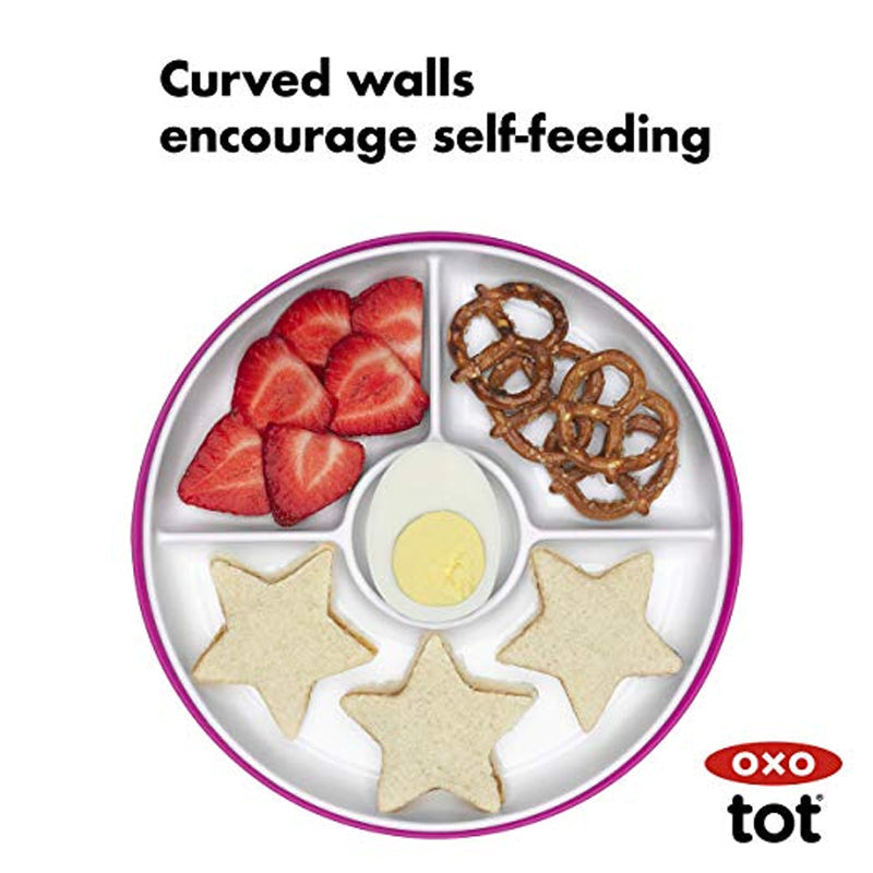 Oxo Tot Stick and Stay Suction Divided Plate