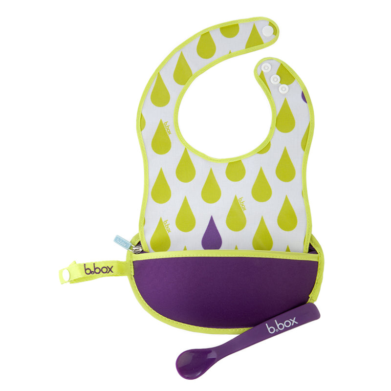 B. Box Travel Bib and Spoon