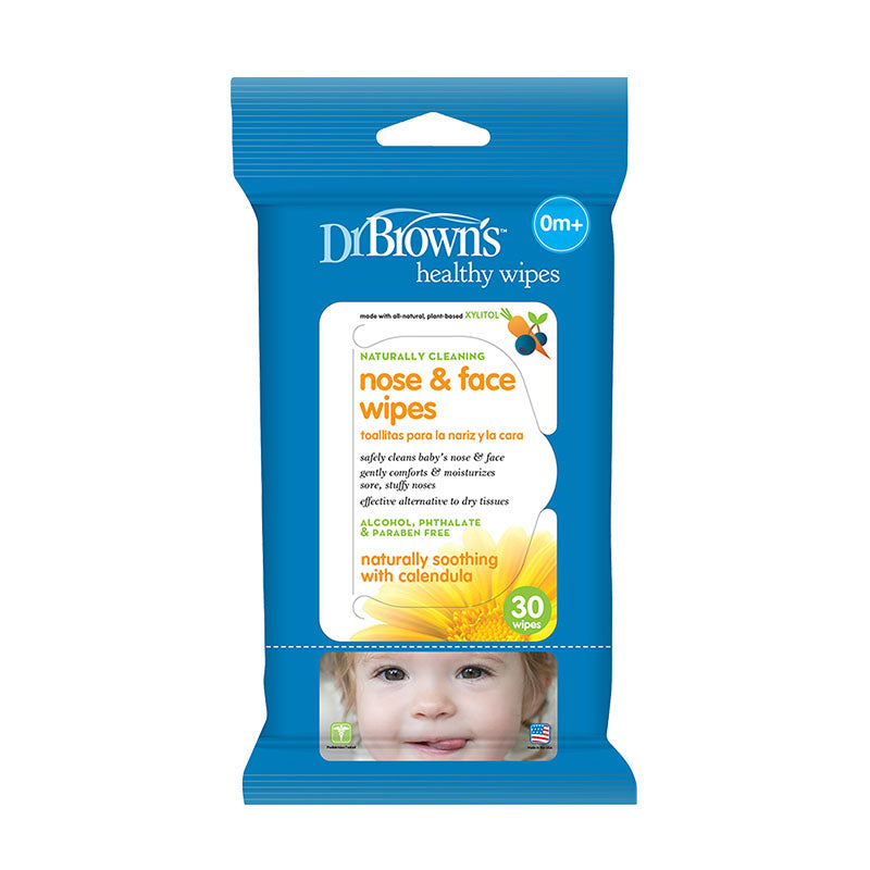 Dr. Brown's 30-Pack Nose and Face Wipes