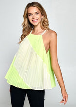 Load image into Gallery viewer, Neon Pleated Tank
