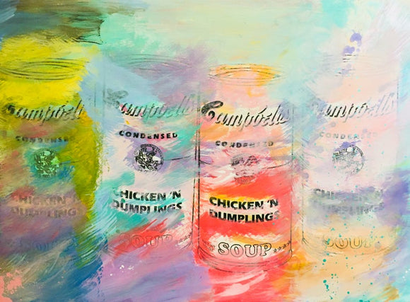 Soup Can Multiples Art Deco Painting
