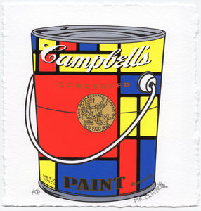 Mondrian Red Metallic Paint Can