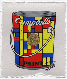 Mondrian Yellow Metallic Paint Can