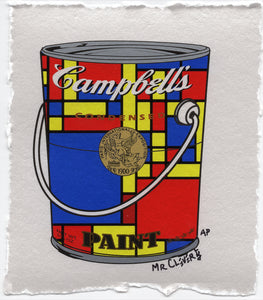 Mondrian Blue Metallic Paint Can