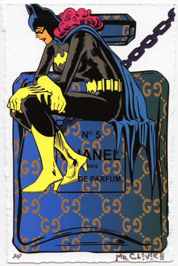Girl Bat on a Blue Parfum