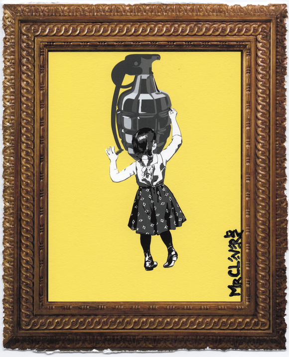 Graffiti Girl Framed Variant 2
