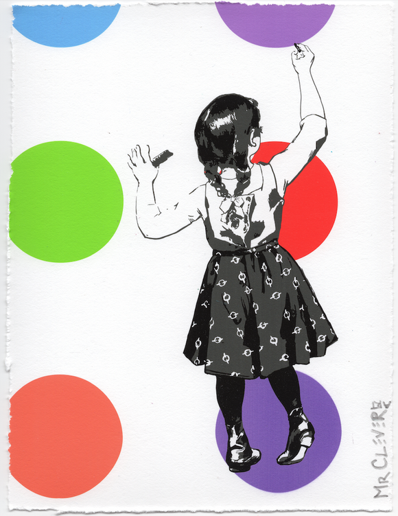 Graffiti Girl Dots Purple