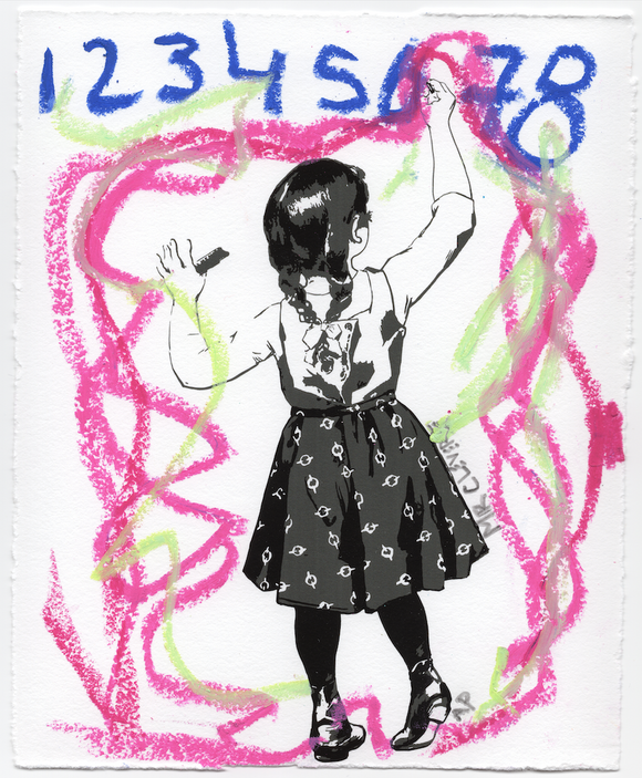 Graffiti Girl Scribble Numbers