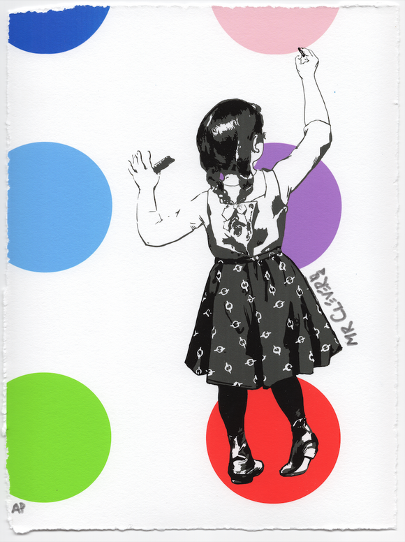 Graffiti Girl Dots