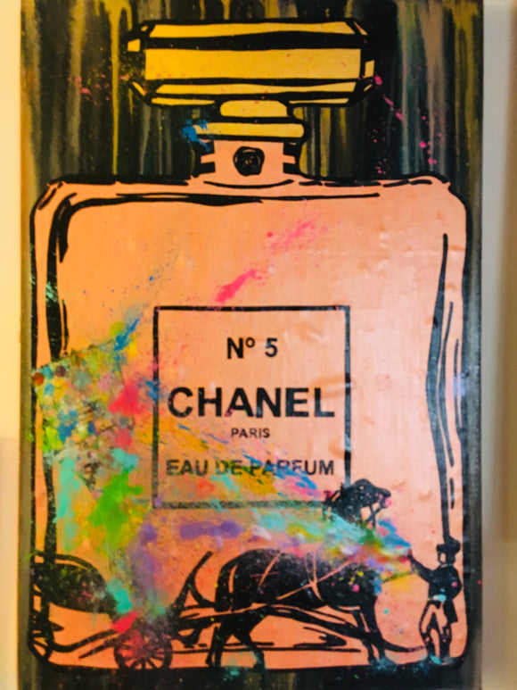 Orange Luxe & Horse Parfum Painting