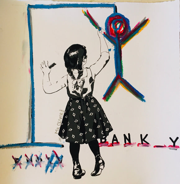 Graffiti Girl Hangman BANK_Y