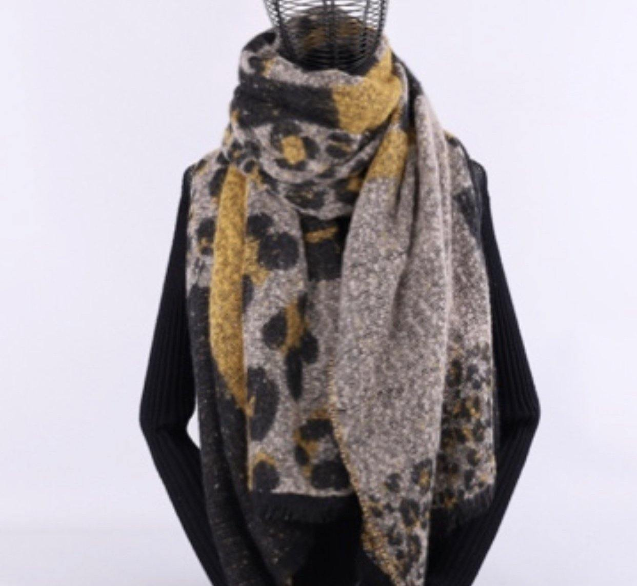 Soft Large Leopard Print Scarf-Accessories-OGONEWYORK | Contemporary Womenswear | Ethical | Kind