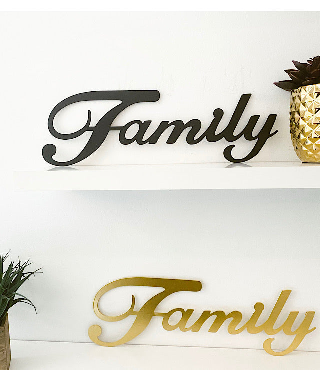 Large Family Metal Sign