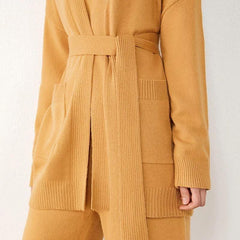 Camel Cardigan With Belt