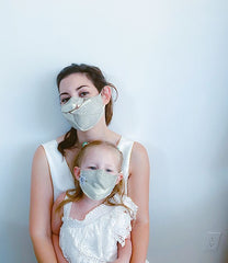 Nature Inspired 100% Cotton Kids Reversible Mask + 1 HEPA99 Reusable Washable Filter
