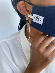 Face Mask Strap holder  | Face Mask Retainer | Mask holder | Mask strap holder| Strap clip -  white cord - OGONEWYORK | Contemporary Womenswear | Ethical | Kind