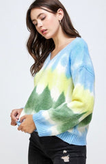 Tie Dye Cotton Sweater