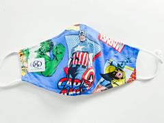 Marvel 100% Cotton Reversible Mask + 1 HEPA99 Reusable Washable Filter