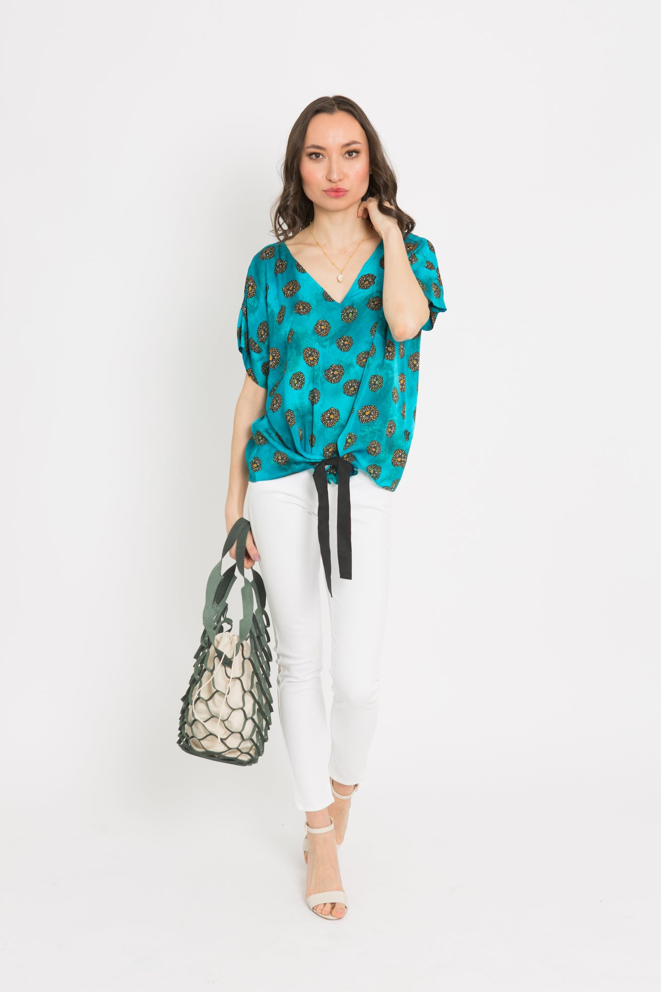 Ada Print Kimono Top - OGONEWYORK | Contemporary Womenswear | Ethical | Kind