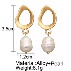 Natural Freshwater Pearl Drop Earrings-Accessories-OGONEWYORK | Contemporary Womenswear | Ethical | Kind