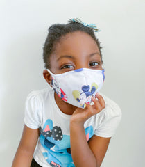 Mickey Mouse 100% Cotton Kids Mask + 1 HEPA Filter-face mask-OGONEWYORK | Contemporary Womenswear | Ethical | Kind