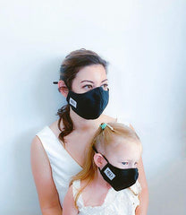 Black Denim 100% Cotton Reversible Mask + 1 HEPA99 Reusable Washable Filter