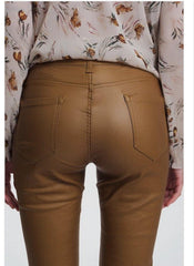 Camel High Rise Skinny  Pants