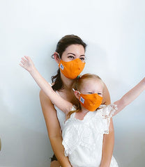 Orange Lightweight Cotton Mask + 1 HEPA Filter-face mask-OGONEWYORK | Contemporary Womenswear | Ethical | Kind