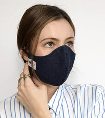 HEPA99  Face Mask - 99% Filter | Pocket Inserts |  100% Cotton  | Reversible | Washable - Simonne - OGONEWYORK | Contemporary Womenswear | Ethical | Kind reversible washable face mask buy online face mask washable face mask online buy face mask adult face mask online buy washable reversible face mask best face mask online buy reversible washable face mask buy