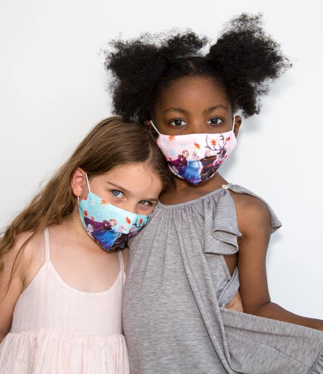 Kids Frozen Face Mask  | Face covering | Lightweight cotton | Washable | Reusable - Blue - XS - OGONEWYORK | Contemporary Womenswear | Ethical | Kind