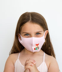 Soft Kids Face Mask | Lightweight scuba | Washable - Brie -  Pink - OGONEWYORK | Contemporary Womenswear | Ethical | Kind