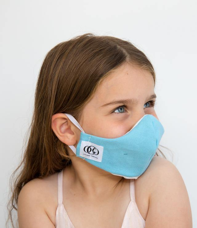 HEPA99 Kids face mask - 99% Filter | Pocket Inserts| 100% Cotton | Reversible | Washable - Asa blue - OGONEWYORK | Contemporary Womenswear | Ethical | Kind