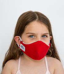 HEPA99 Kids face mask - 100% Cotton| Pocket Inserts | Reversible | Washable - Asa Red - OGONEWYORK | Contemporary Womenswear | Ethical | Kind