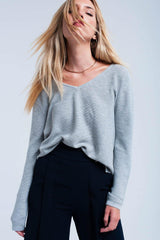 Gray Lightweight Sweater-Sweaters-OGONEWYORK | Contemporary Womenswear | Ethical | Kind