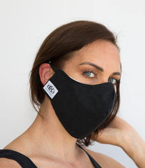 HEPA99 Face Mask - 99% Filter | Black 100%  Denim Cotton | Pocket Inserts | Reversible | Washable- Hayden - OGONEWYORK | Contemporary Womenswear | Ethical | Kind