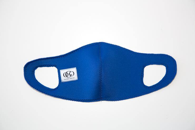 Blue Scuba Kids Face Mask | Neoprene |  Washable | Reusable| Face covering | Dust Mask | Activity Mask- Ash - XS - OGONEWYORK | Contemporary Womenswear | Ethical | Kind